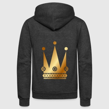 Ornate-golden-king-royal-crowns-vector - Unisex Fleece Zip Hoodie