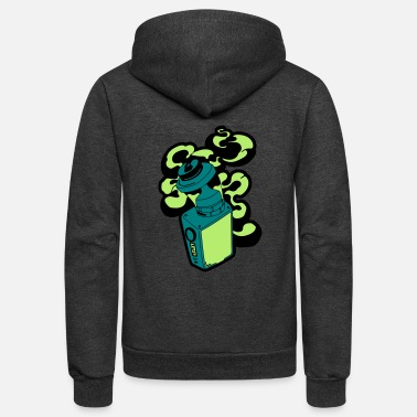 Cannabis Vape Box - Unisex Fleece Zip Hoodie