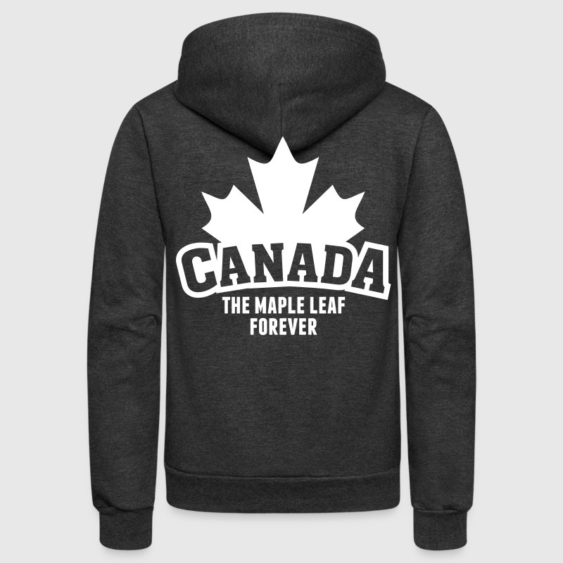 CANADA, THE MAPLE LEAF FOREVER - Unisex Fleece Zip Hoodie