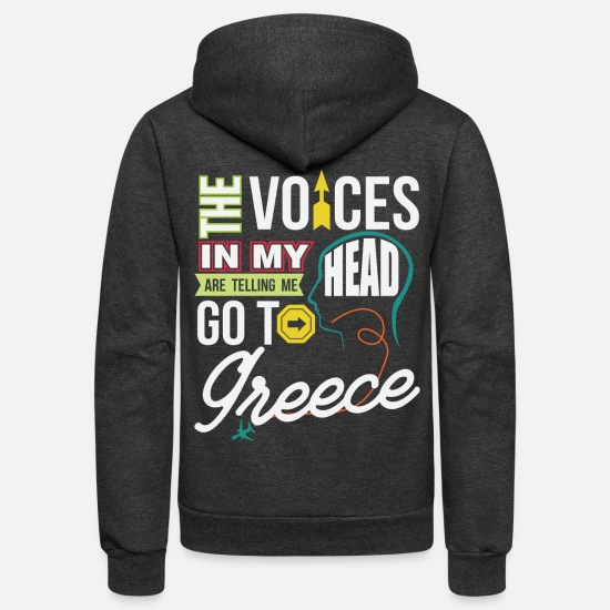 Gift Idea Hoodies & Sweatshirts - Greece - Unisex Fleece Zip Hoodie charcoal gray