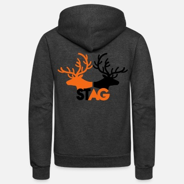 Stag STAG double stag two reindeer  - Unisex Fleece Zip Hoodie