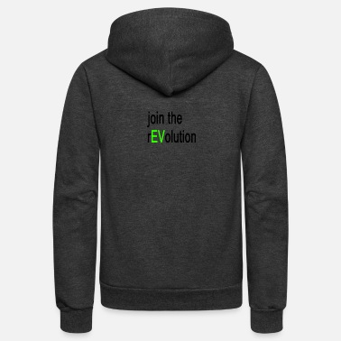 Vehicle Join The Revolution Electric Vehicle - Unisex Fleece Zip Hoodie