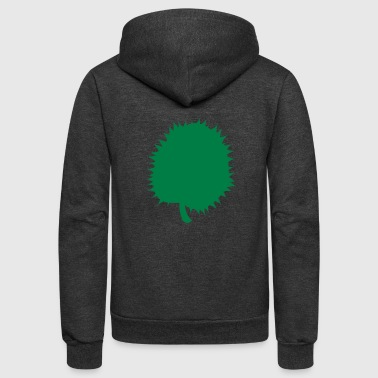 durian fruit of South east ASIA - Unisex Fleece Zip Hoodie