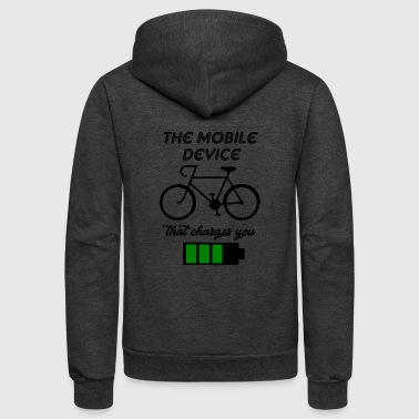 the mobile device - Unisex Fleece Zip Hoodie