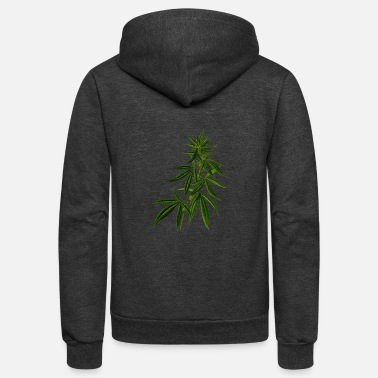 Cannabis cannabis plant - Unisex Fleece Zip Hoodie