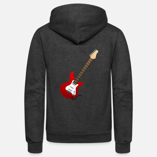 Music Hoodies & Sweatshirts - music lovers - Unisex Fleece Zip Hoodie charcoal gray
