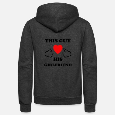 This Guy Loves His Boyfriend this guy loves his girlfriend - Unisex Fleece Zip Hoodie
