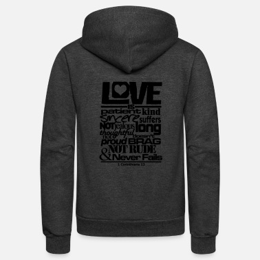 Bible LOVE IS - Unisex Fleece Zip Hoodie