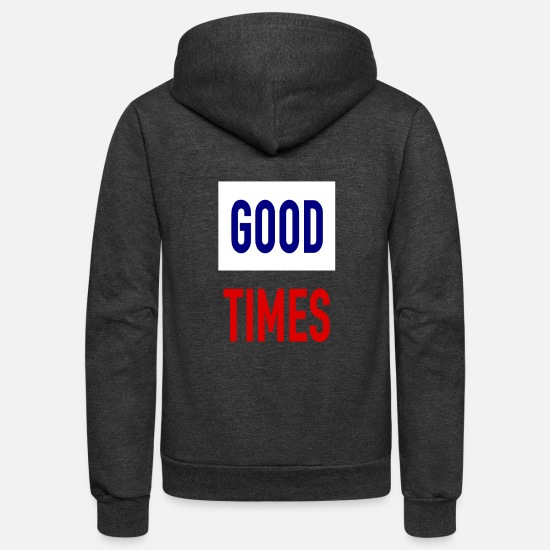 Casanova Hoodies & Sweatshirts - Good TImes - Streetwear - Underground - Geek - Unisex Fleece Zip Hoodie charcoal gray