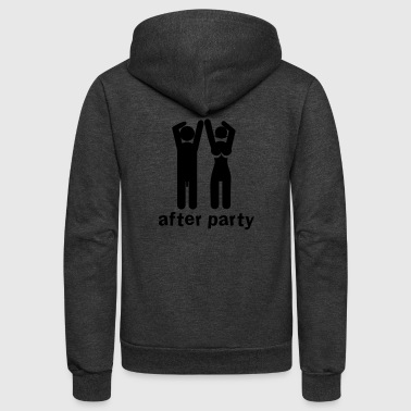 after party naked man and woman a bit rude! - Unisex Fleece Zip Hoodie
