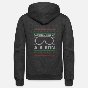 Ugly Christmas A-A-Ron Christmas - Unisex Fleece Zip Hoodie