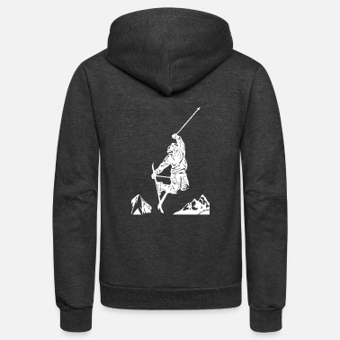 Sporty Skiers on the ski slopes in a sporty and fast way - Unisex Fleece Zip Hoodie