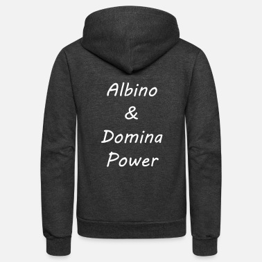 Domina Albino and Domina Power White Vector - Unisex Fleece Zip Hoodie