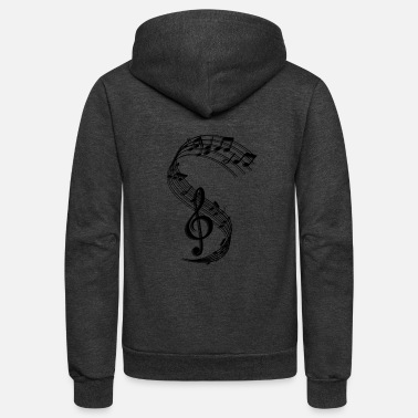 Music Symbols music - Unisex Fleece Zip Hoodie