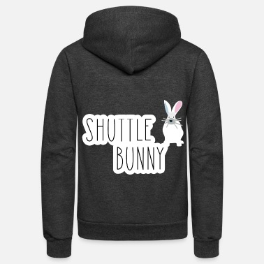 Funny gift for kayakers - shuttle bunny - Unisex Fleece Zip Hoodie