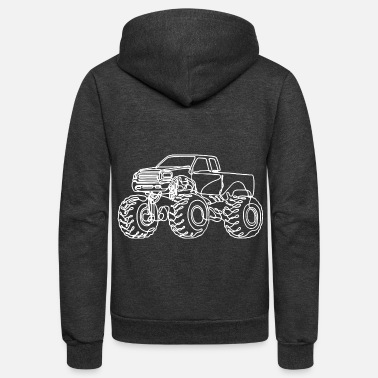 Monster Monster Truck - Unisex Fleece Zip Hoodie