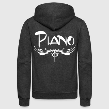 Piano Accent - Unisex Fleece Zip Hoodie