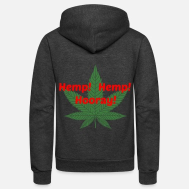 Hemp Hemp Hemp Leaf iPiccy Design - Unisex Fleece Zip Hoodie