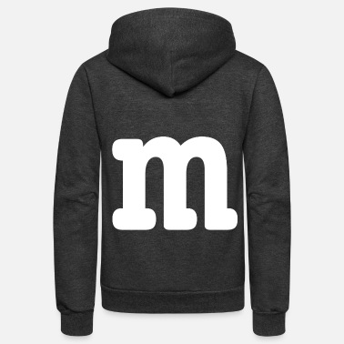 M m m group costume carneval family funny - Unisex Fleece Zip Hoodie