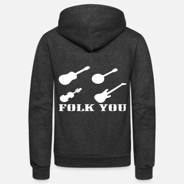Folk FOLK MUSIC - Unisex Fleece Zip Hoodie