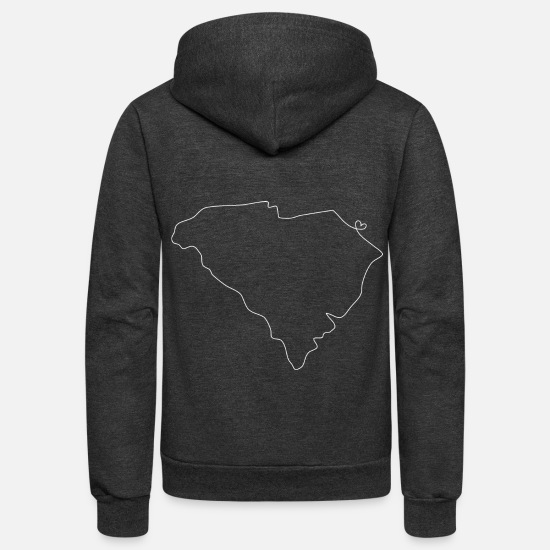 Aupair Hoodies & Sweatshirts - SOUTH CAROLINA Heart - Unisex Fleece Zip Hoodie charcoal gray
