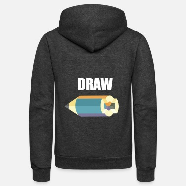Drawing DRAW - Unisex Fleece Zip Hoodie