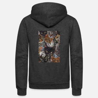 Cat Collage Cats and Cats and - Unisex Fleece Zip Hoodie