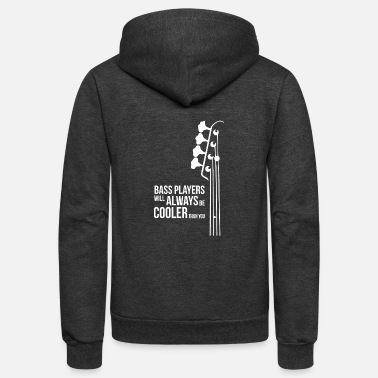 Bass Player Bass Guitar Players Are Cool - Unisex Fleece Zip Hoodie