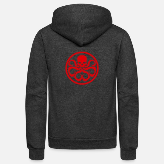 Hydra Hoodies & Sweatshirts - New Design Hydra Logo Best Seller - Unisex Fleece Zip Hoodie charcoal gray