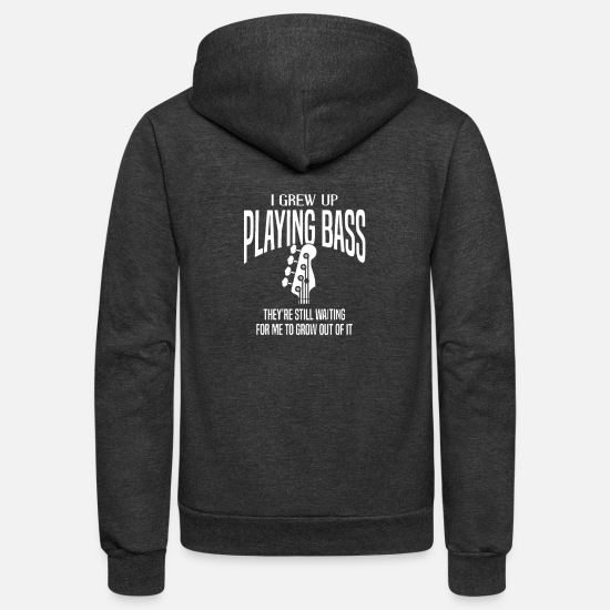 Bass Hoodies & Sweatshirts - Bass1 - Unisex Fleece Zip Hoodie charcoal gray