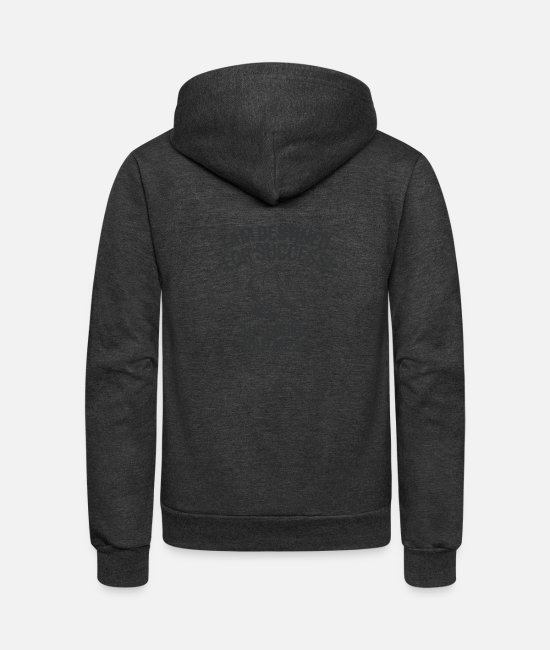 Cookie Hoodies & Sweatshirts - Funny Fortune Cookie Prophecy - Unisex Fleece Zip Hoodie charcoal gray