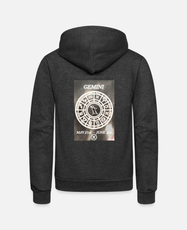 "Star Signs Hoodies & Sweatshirts - ""The Twins"" by Aaron S. - Unisex Fleece Zip Hoodie charcoal gray"