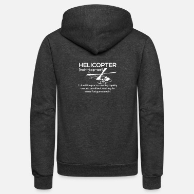 Helicopter Funny Helicopter - Unisex Fleece Zip Hoodie