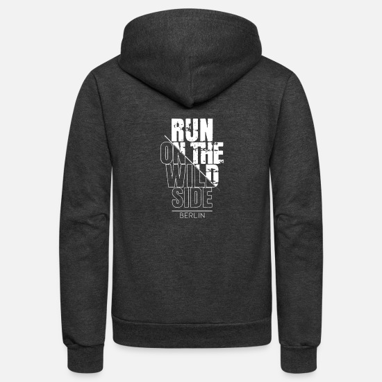 Running Mouse Hoodies & Sweatshirts - Berlin is a very cool city - Unisex Fleece Zip Hoodie charcoal gray