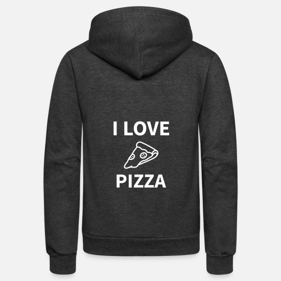 Delivery Hoodies & Sweatshirts - pizza delicious restaurant fast food - Unisex Fleece Zip Hoodie charcoal gray