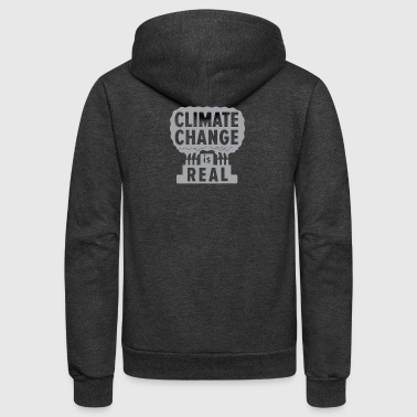 Climate Change Is Real - Unisex Fleece Zip Hoodie