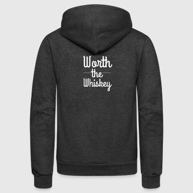 Worth the Whiskey - Unisex Fleece Zip Hoodie