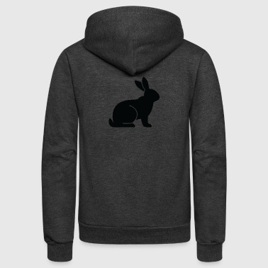 A Sitting Rabbit - Unisex Fleece Zip Hoodie