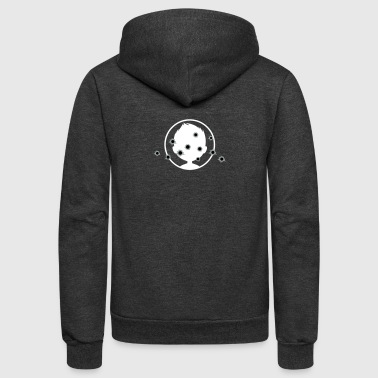 Target With Bullet Holes - Unisex Fleece Zip Hoodie