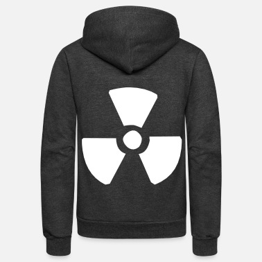 Nuclear Nuclear sign - Unisex Fleece Zip Hoodie