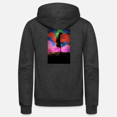 Painting colorful_tree - Unisex Fleece Zip Hoodie