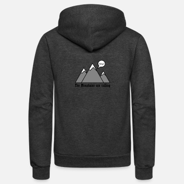 Mountains mountains calling - Unisex Fleece Zip Hoodie