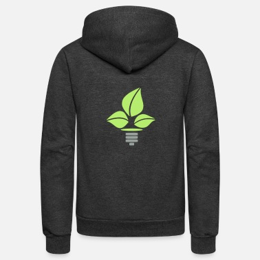 Eco Eco Lightbulb - Unisex Fleece Zip Hoodie