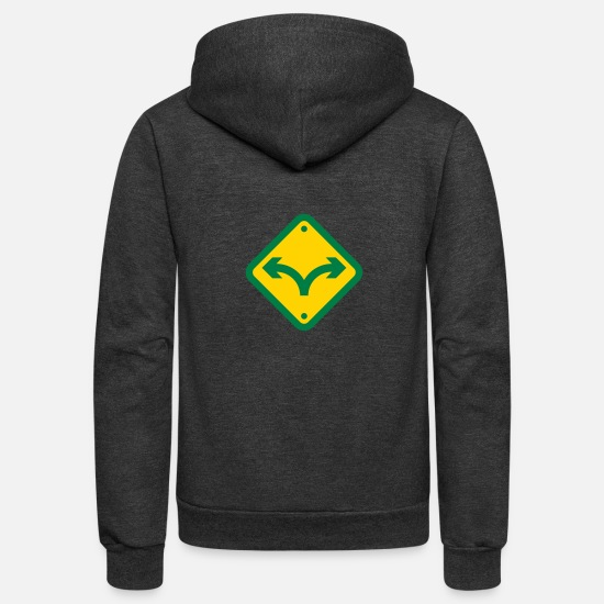 Wealth Hoodies & Sweatshirts - US Dollar Logo - Unisex Fleece Zip Hoodie charcoal gray
