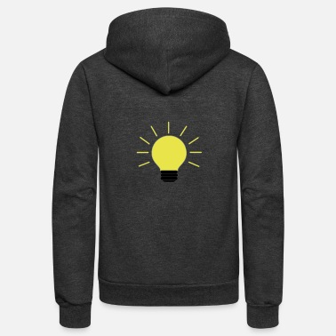 Bright Colors The Bright Side - Unisex Fleece Zip Hoodie