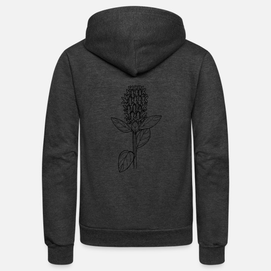 Floral Hoodies & Sweatshirts - Self heal - Unisex Fleece Zip Hoodie charcoal gray