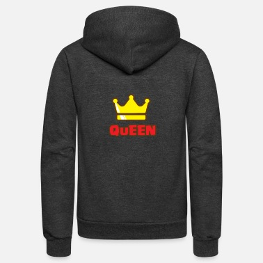 King Family King and Queens Queen - Mom - Unisex Fleece Zip Hoodie