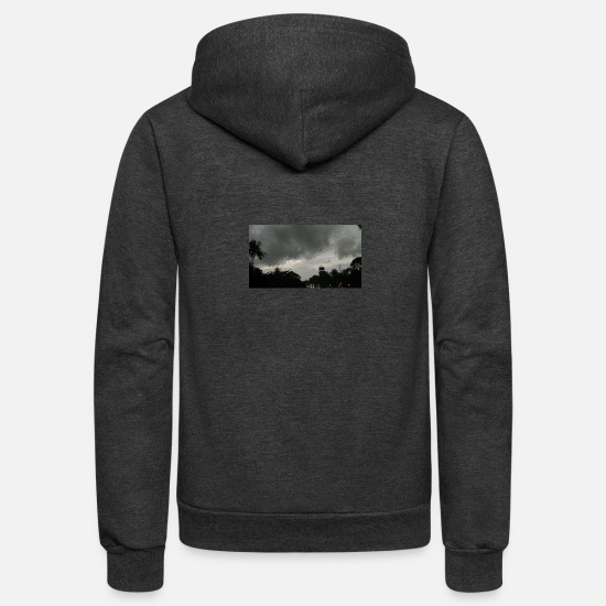 Rain Hoodies & Sweatshirts - Rainy eve - Unisex Fleece Zip Hoodie charcoal gray