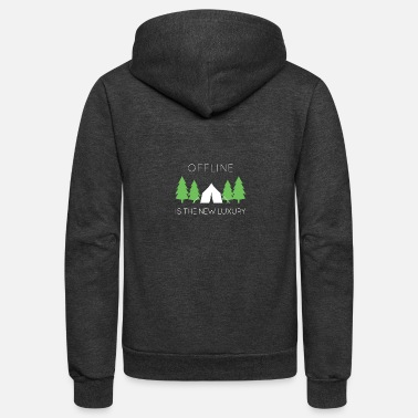 OFFLINE IS THE NEW LUXURY - Unisex Fleece Zip Hoodie