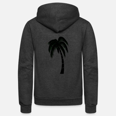 Palm Tree palm1 - Unisex Fleece Zip Hoodie